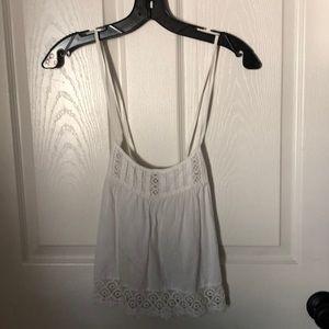 Topshop white lace tank